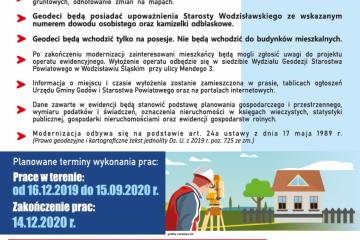 Rusza kolejny etap modernizacji ewidencji gruntów i budynków w gminie Godów